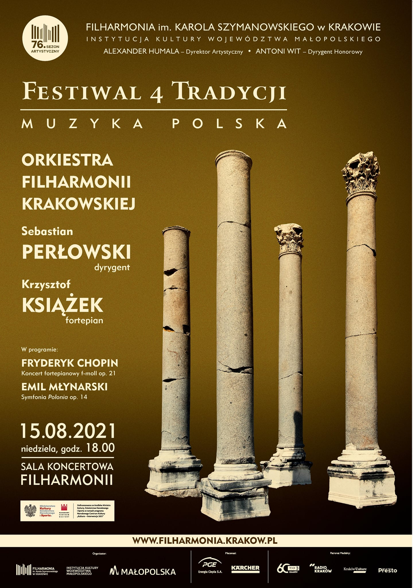 Festiwal 4tradycji -plakat promujący wydarzenie.