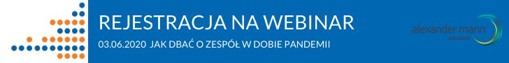 Banner informujący omożliwości rejestracji na webinar