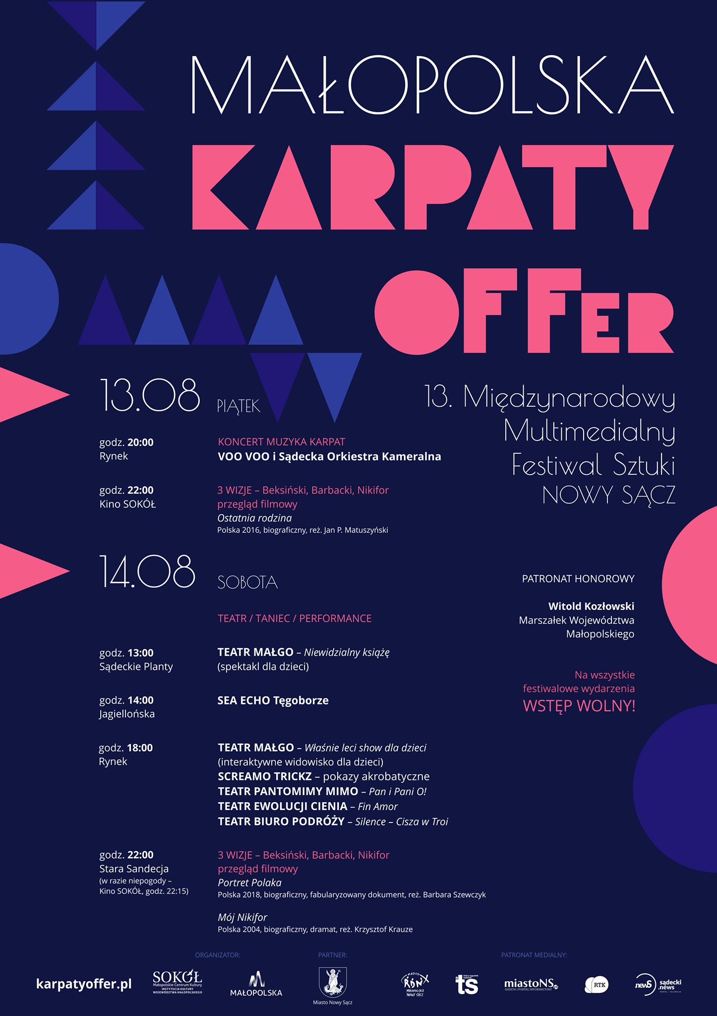 Małopolska Karpaty OFFer -plakat promujący wydarzenie.