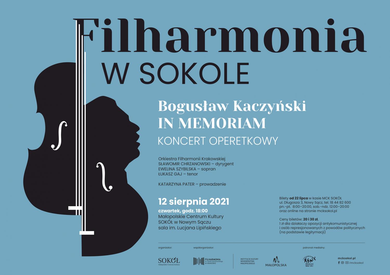 Filharmonia wSOKOLE -grafika promująca wydarzenie.