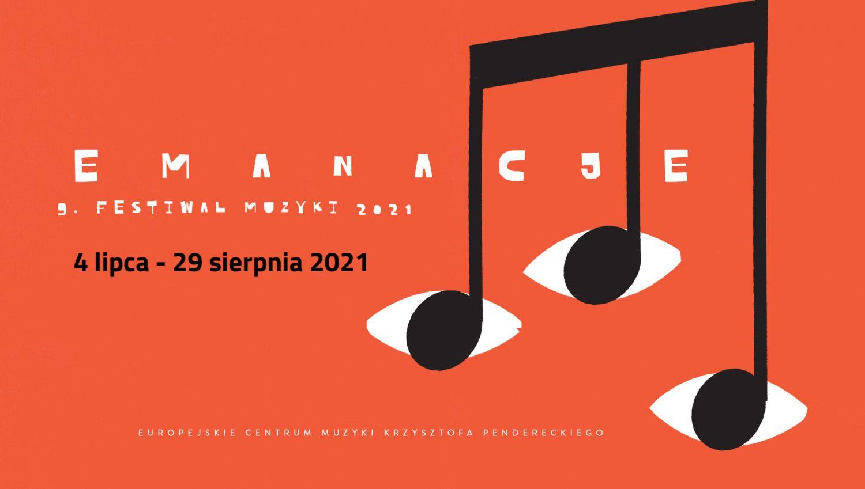 Festiwal Emanacje -grafika promująca wydarzenie.