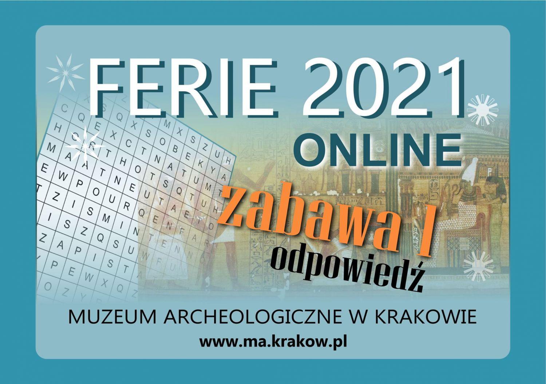 Ferie 2021 online. Grafika Muzeum Archeologicznego wKrakowie